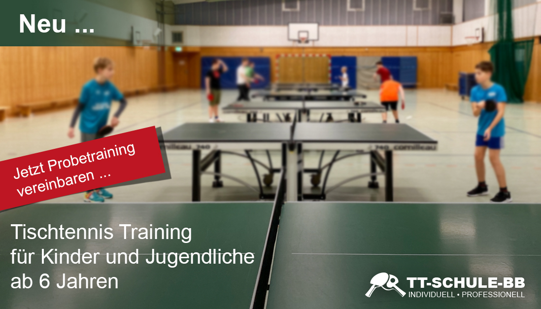 Tischtennis-Trainng für Kinder in Oranienburg